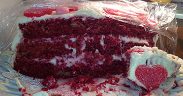Inside of the Infamous No Dye Red Velvet Cake